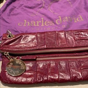 Charles David leather clutch